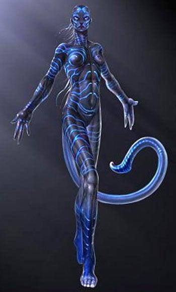 Illustration for article titled Leaked Avatar Concept Art Shows Blue Supermodel