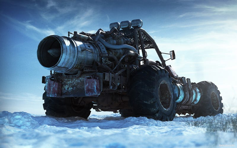 Illustration for article titled I Approve of This Jet Powered Snow Buggy