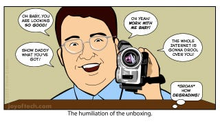 Illustration for article titled Why Every Single Gadget Unboxing Is Weird, Creepy and Maybe Even Pervy
