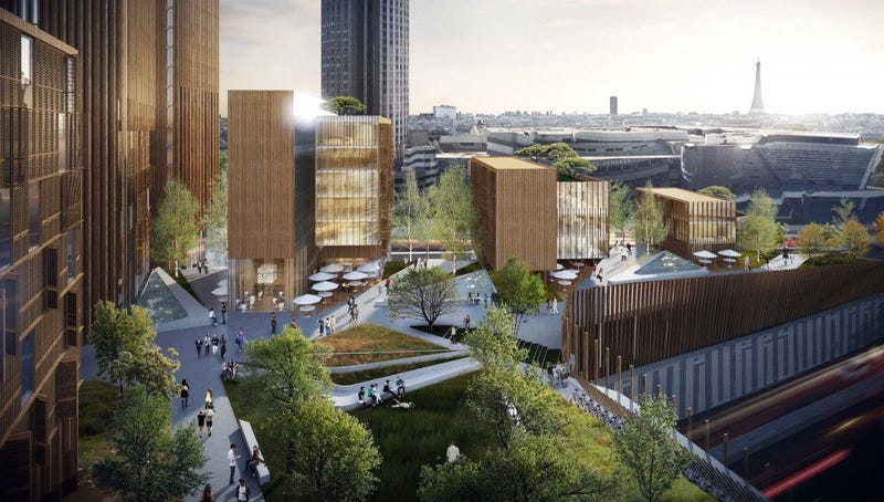 Illustration for article titled Towers Proposed For Paris Would Be The World's Tallest Wooden Structures