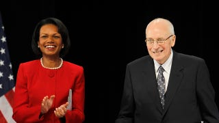 "Illustration for article titled Condoleezza Rice Criticizes Cheney For ""Cheap Shots,"" Insists She Never Cried"