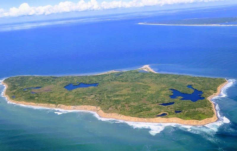Vista aérea de la isla. Wikimedia Commons