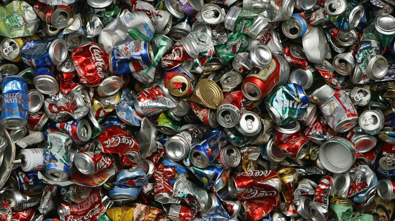 Don't Crush Cans Before Recycling Them