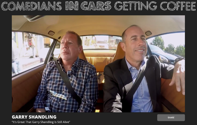 Illustration for article titled Garry Shandling Dies, Leaves 'Comedians In Cars' Episode With Deeply Unfortunate Title