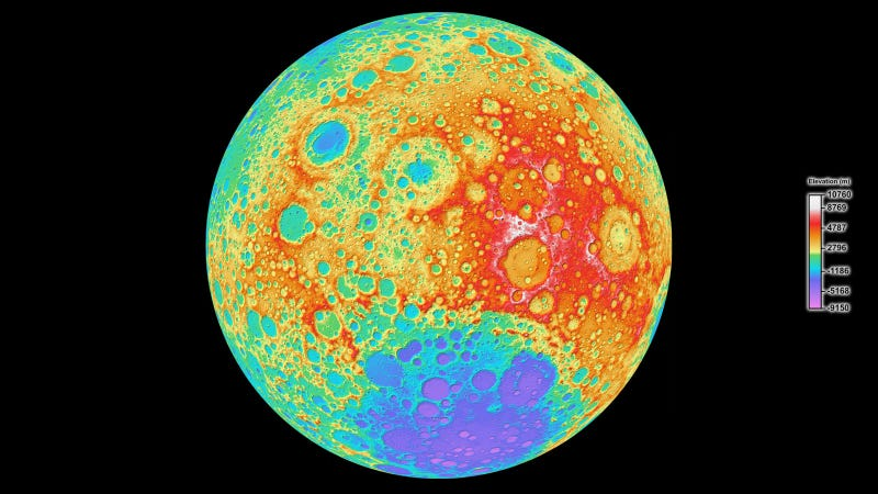 Illustration for article titled NASA Has Completed the Highest-Resolution Map of the Moon Ever