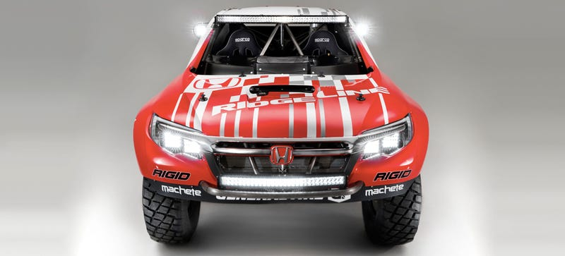 Illustration for article titled 2017 Honda Ridgeline: This Is It, As A Full-On Off-Road Racing Machine