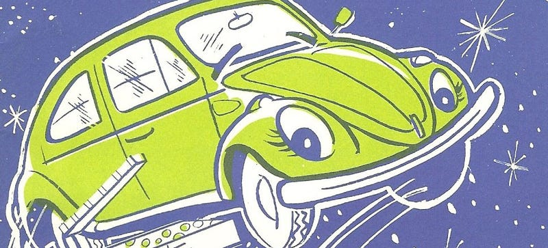 Illustration for article titled VW's Only Officially-Approved Christmas Story Has A Jolly Green Beetle