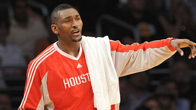 Illustration for article titled Ron Artest Tells Reporters He Lives For The NBA Playoffs, Coconut Shrimp