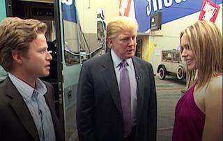 Billy Bush, Donald Trump and actress Arianne Zucker in a screenshot from a 2005 Access Hollywood tapeCNN Screenshot