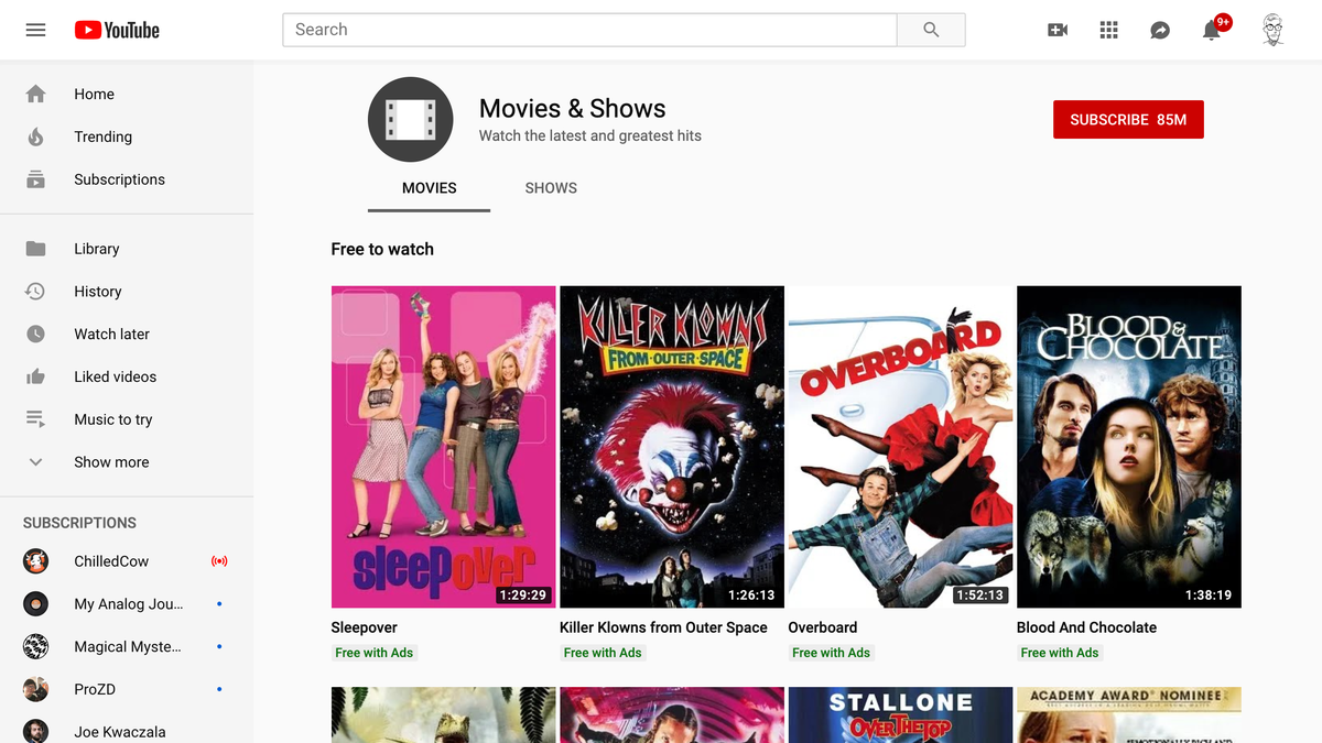 Top 10 Places to Download or Stream Movies For Free, Legally