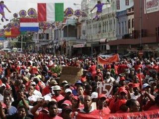 Striking workers in Durban (Reuters)