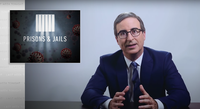 """John Oliver takes on the pandemic """"death cruise ships"""" that are American prisons and jails"""