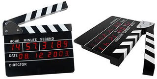 Illustration for article titled Digital Clapperboard Alarm Clock Looks Like the Real Thing