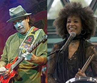 Carlos Sand Cindy Blackman Santana protest Grammy changes. (Google)