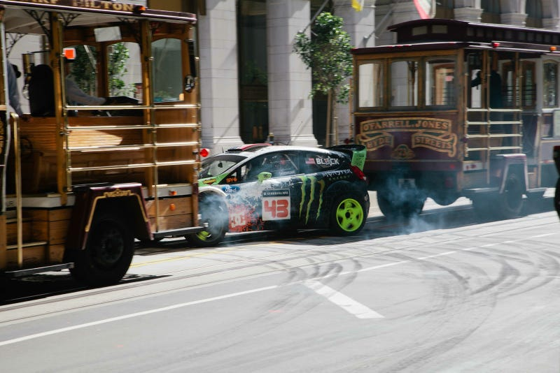 Illustration for article titled Ken Block's San Francisco Adventure: Epic Gymkhana 5 Photo Gallery