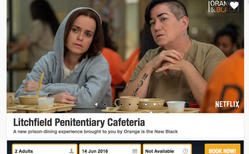 Illustration for article titled A Pop-Up in Singapore Is Serving 'Prison Grub' in a Jail-Like Setting to Promote OITNB