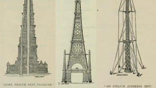 Illustration for article titled In 1890, the English held a contest to design London's wacky rip-off of the Eiffel Tower