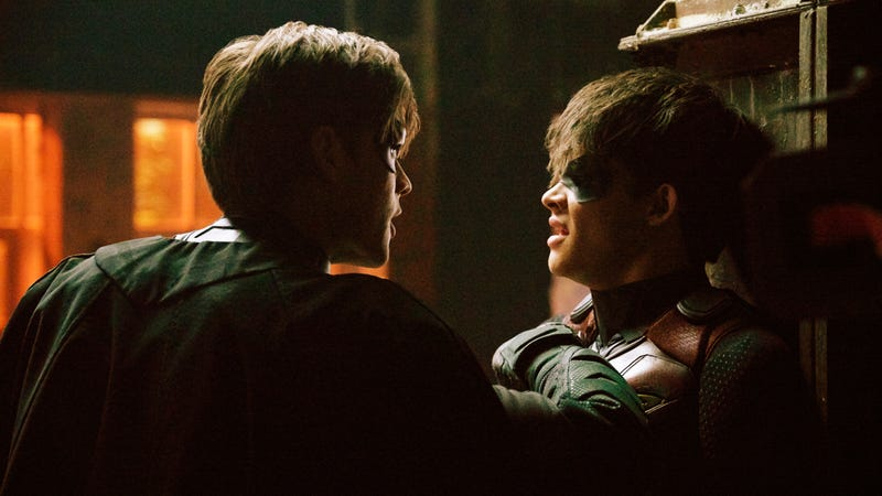 Brendan Thwaites as Dick Grayson and Curran Walters as Jason Todd.