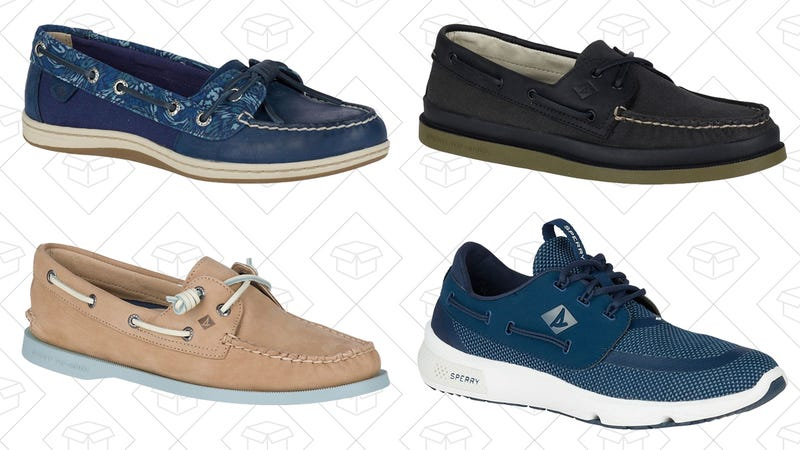 Select Sperry Boat Shoes, $50 with code BOATDAY