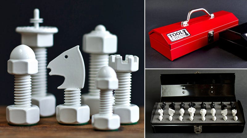 Illustration for article titled Toolbox Chess Sets Make You the Bobby Fisher of Shop Class