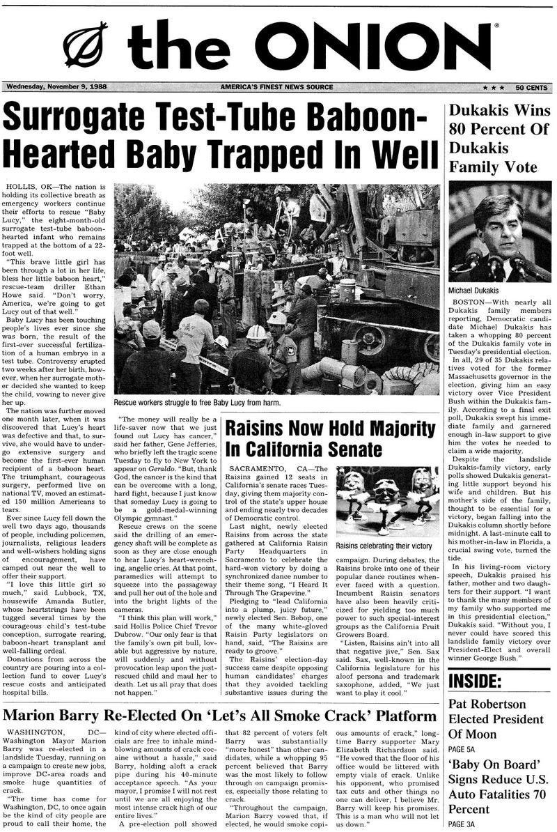 Illustration for article titled November 9, 1988