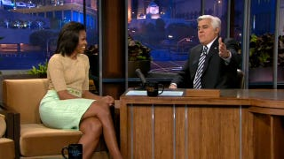 Illustration for article titled Michelle Obama Tells Jay Leno that the President Sings to Her All the Time