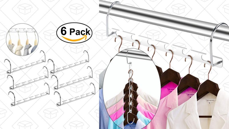 WINOMO Wonder Magic Clothes Hangers Metal Set of 6, $9 with code HANGERW6
