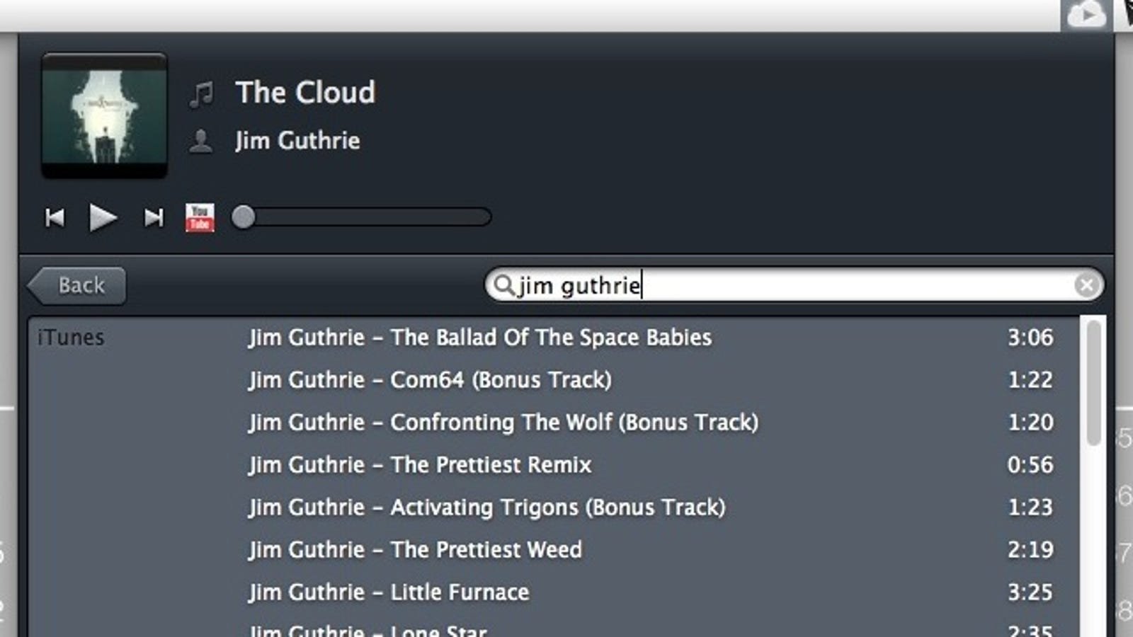 CloudPlay Is a Menu Bar Music Player That Pulls Songs from