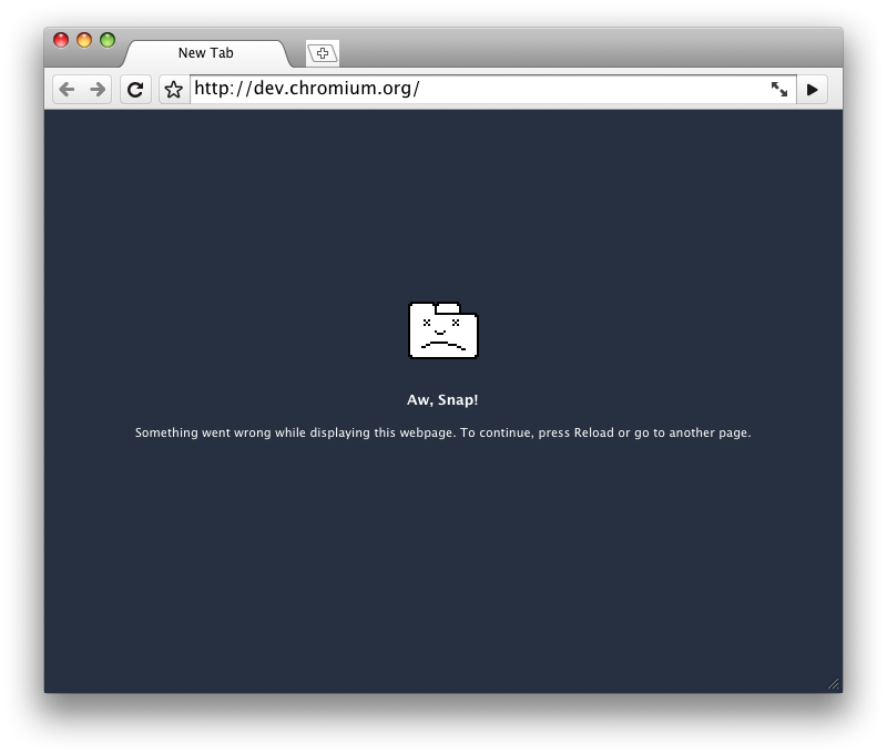 Illustration for article titled First Screenshot of Chrome on OS X