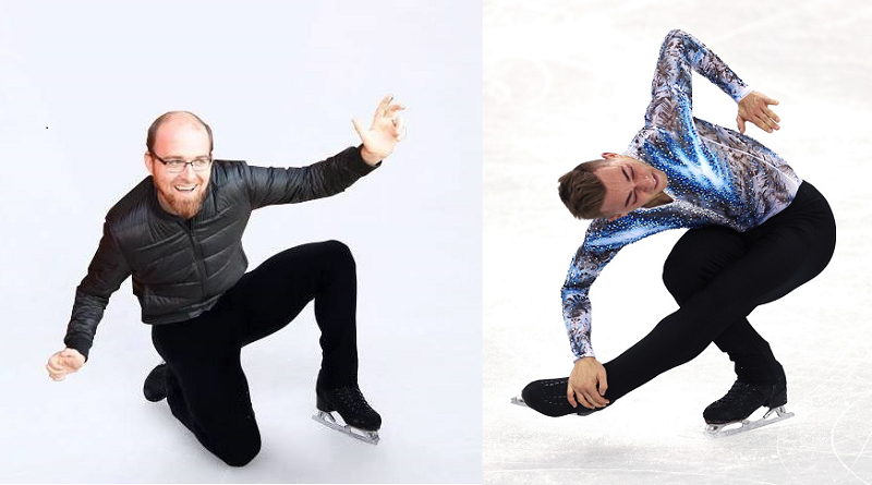 Left: Adam Rippon (courtesy Rippon). Right: Adam Rippon (Maddie Meyer/Getty Images)