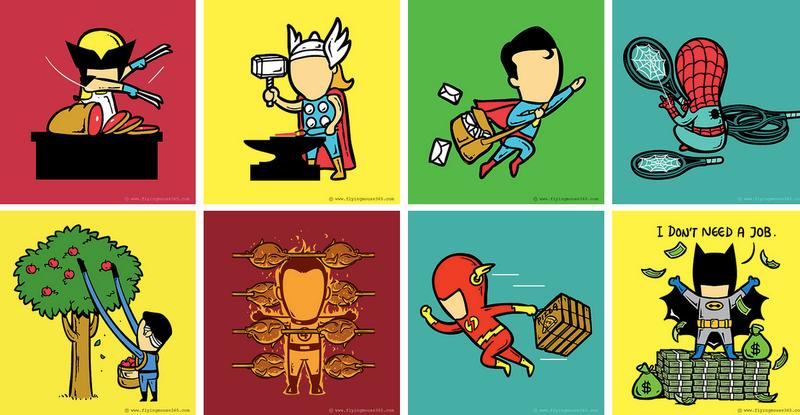 ¿Qué harían los superhéroes si no fueran... superhéroes?