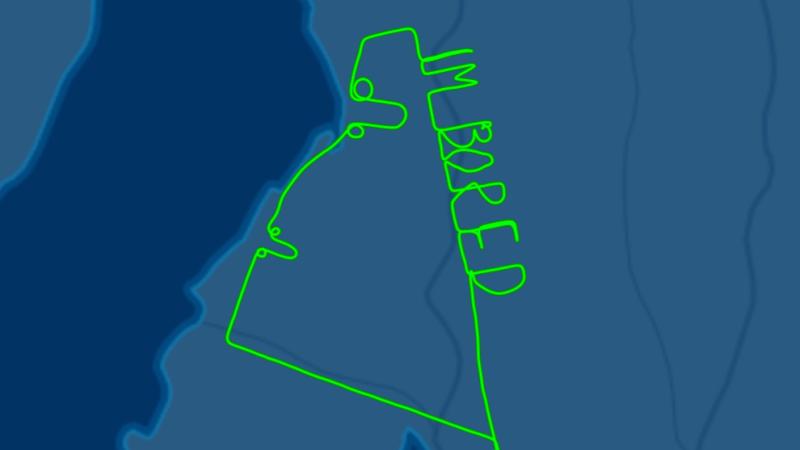 "Illustration for article titled Un piloto aburrido escribe ""estoy aburrido"" junto a dos penes en el cielo de Australia"