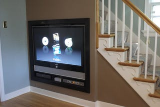 Illustration for article titled Home Theater Under the Stairs Makes Perfect Sense