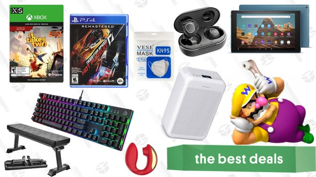 Friday s Best Deals: Fire HD 10 Tablet, Mpow Earbuds, It Takes Two, Monster Hunter Rise, Finer Form Workout Bench, Bellesa Boutique Sale, and More