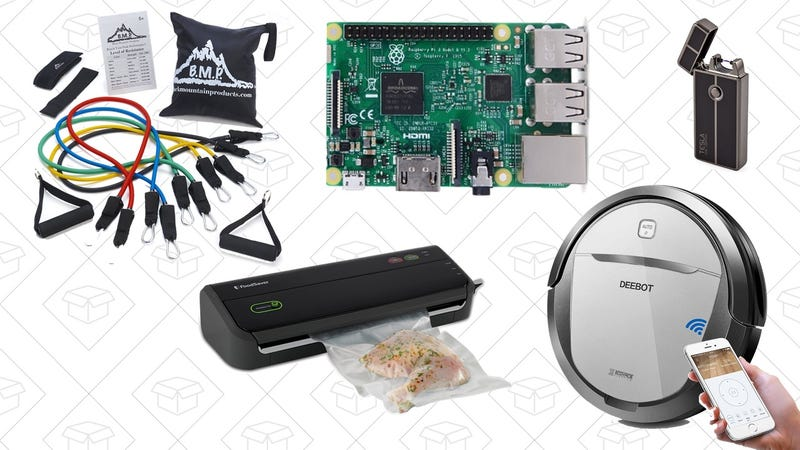 Illustration for article titled Thursday's Top Deals: Raspberry Pi 3, Robot Vacuum, FoodSaver, Resistance Band Gold Box, and More