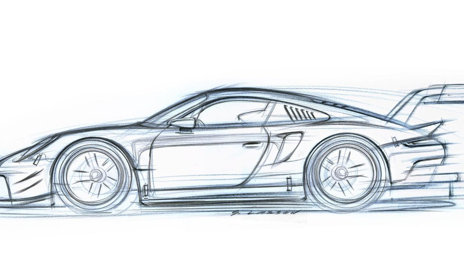 Even The Sketch Of The New Mid Engine Porsche 911 Rsr Race Car Is