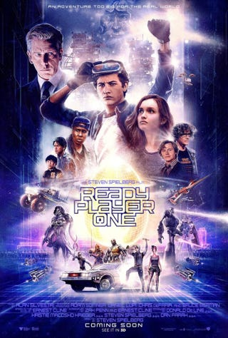 Illustration for article titled 'Ready Player One' Serves Up a Smorgasbord of Nostalgia with 1-D Characters and Paint-By-Numbers Plot