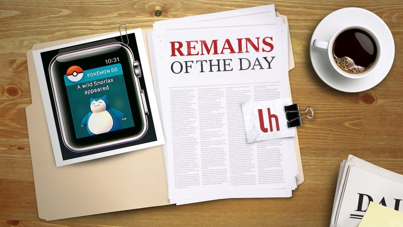 Illustration for article titled Remains of the Day:Pokémon Go Finally Available for Apple Watch
