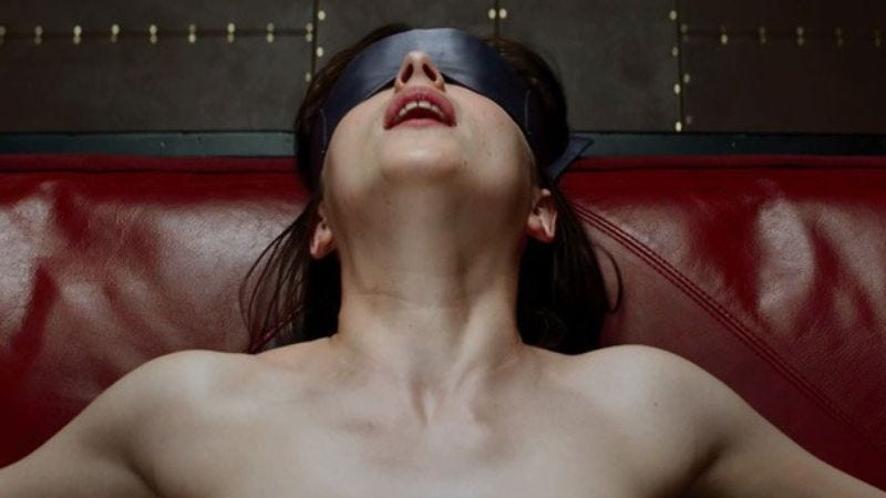 """Illustration for article titled Fifty Shades Of Grey rated R for """"unusual behavior"""""""