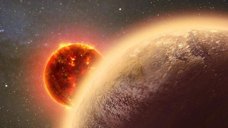 Un exoplaneta en la órbita de una enana roja. (Imagen: Dana Berry)