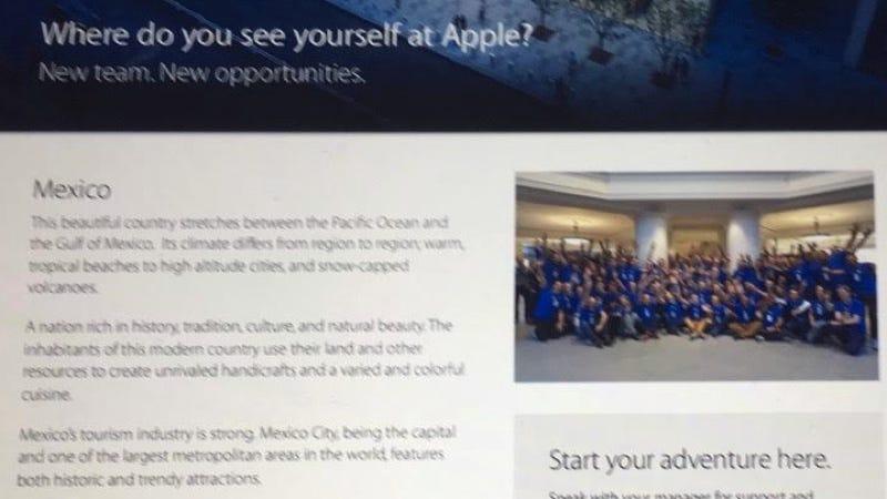 Illustration for article titled Esta imagen borrosa parece confirmar la primera Apple Store de Hispanoamérica, en México