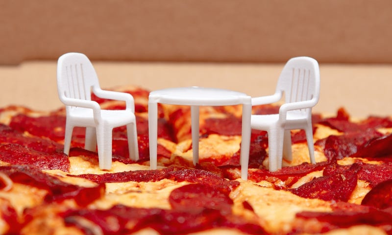 Tiny Table | Tiny Pizza Box Tables Get Matching Chairs From Boston Pizza