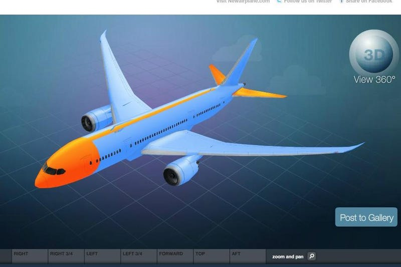 Illustration for article titled Configure your own Boeing 787 Dreamliner