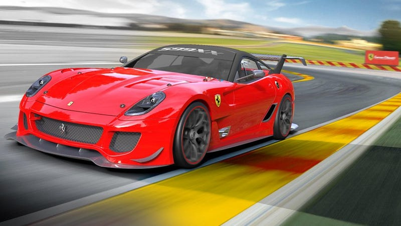 Illustration for article titled Ferrari 599XX Evolution: Active aerodynamics, faster lap times