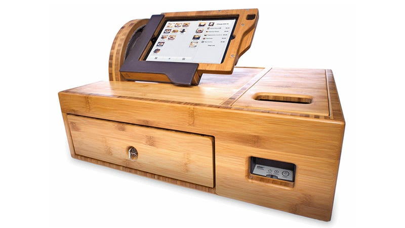 Illustration for article titled The Cash Register of the Future Wraps the iPad in Beautiful Bamboo