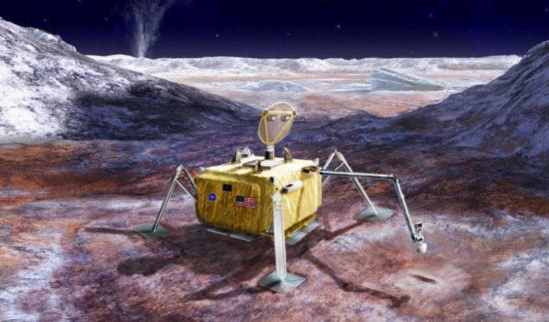 Illustration for article titled La NASA cancela su misión para aterrizar una nave en la luna Europa por culpa de los recortes de Trump
