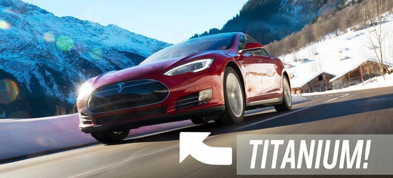 Illustration for article titled The Tesla Model S: Now With Road Debris-Crushing Titanium!