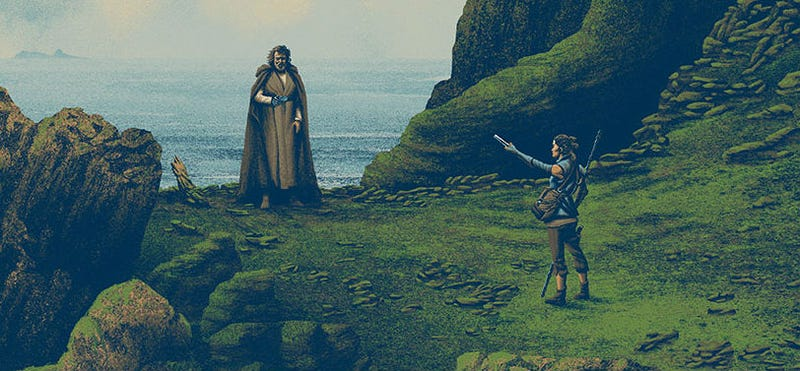 Illustration for article titled Rey Finds Luke Skywalker in This Gorgeous Force Awakens Poster