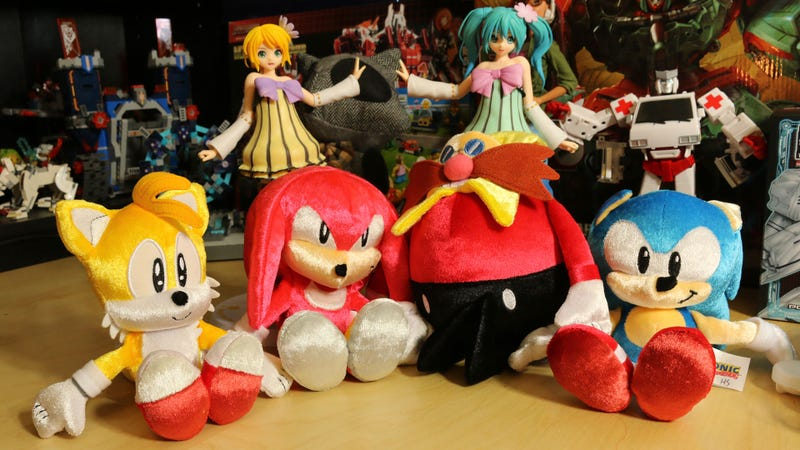 Illustration for article titled Sonic The Hedgehog 25th Anniversary Plushies Celebrate The Good Old Days