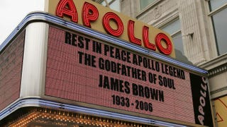 Marquee of the Apollo Theater during the James Brown viewing on Dec. 28, 2006, in New York CityBryan Bedder/Getty Images